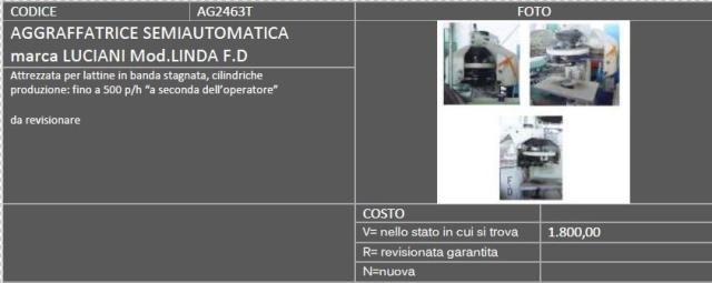 aggraffatrice semiautomatica usata