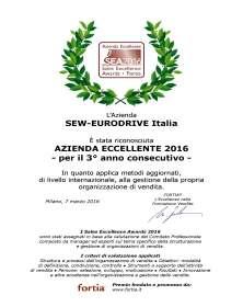 Attestato SEA_2016 SEW-Eurodrive