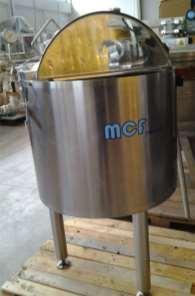 Bacinella in acciaio inox lt.100
